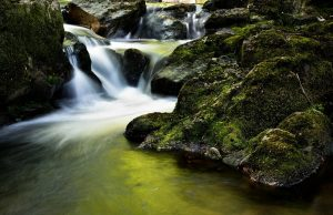 Schöne Natur mit kleinem Wasserfall