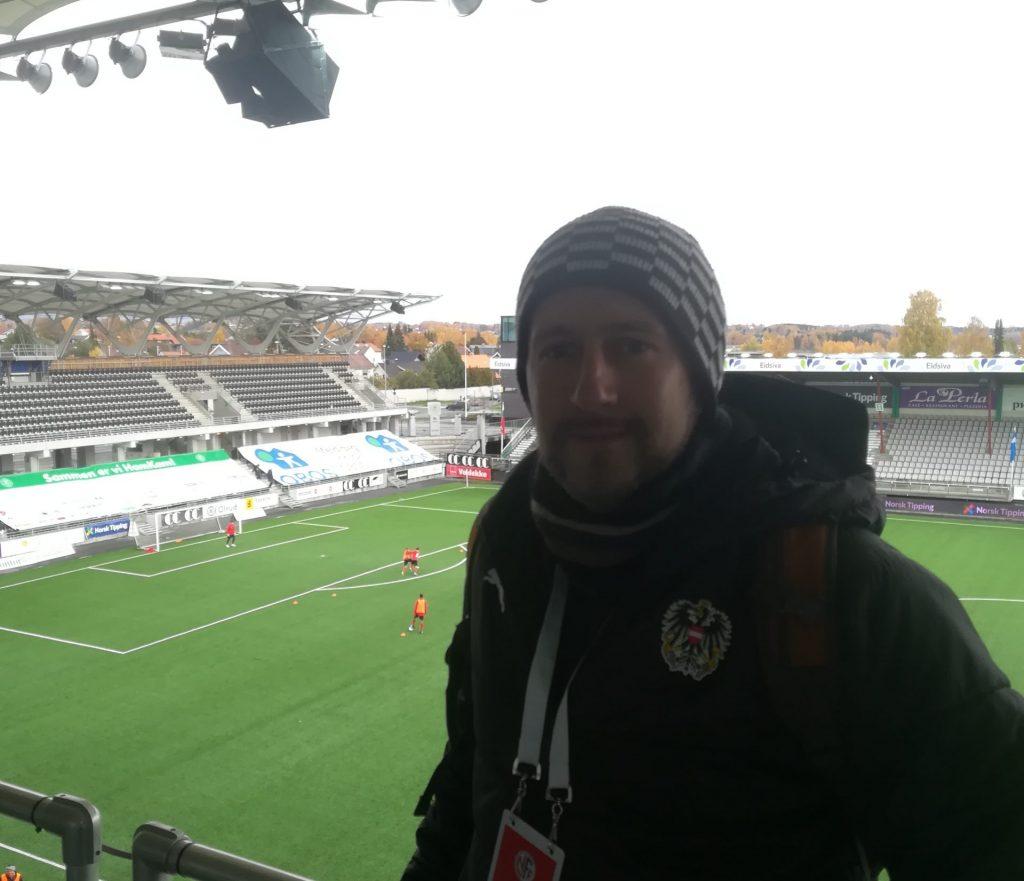 Sportpsychologe Mario Schuster im Stadion